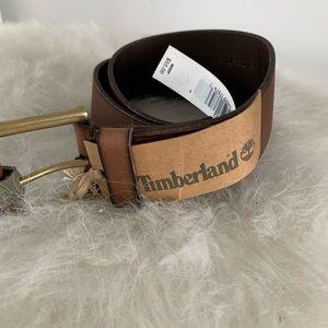 Men's Timberland Brown Leather Belt Sz. 32